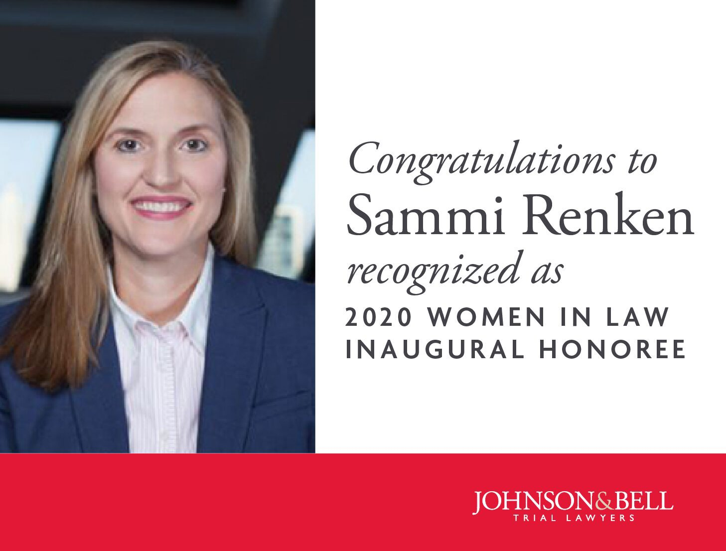 Sammi Renken - 2-2- Women In Law Inaugural Honoree